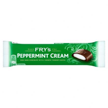 Fry's Peppermint Cream Chocolate Bar 49g x 48 Case